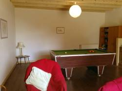 Games room with pool table and loads of other games and books